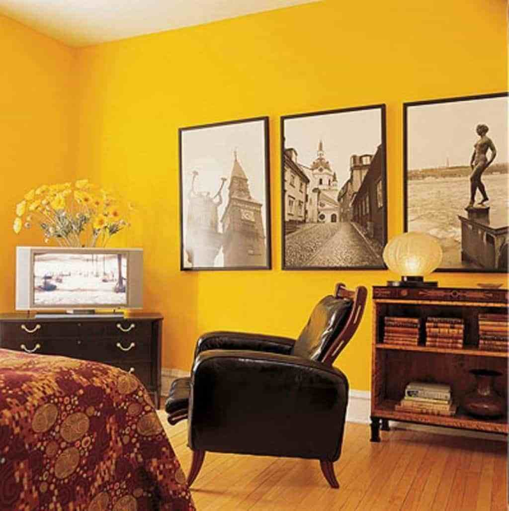 Best Bedroom With Yellow Walls And Wall Photos Decorating A With Pictures