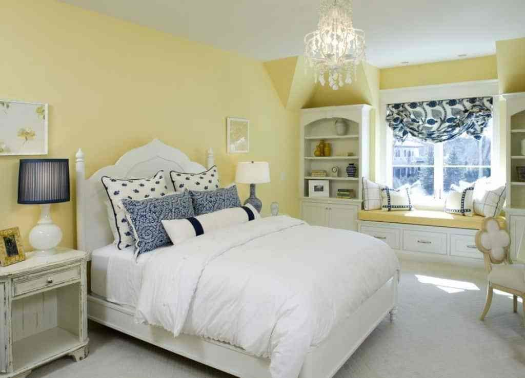 Best Bedroom With Yellow Walls And Window Bench Decorating A With Pictures