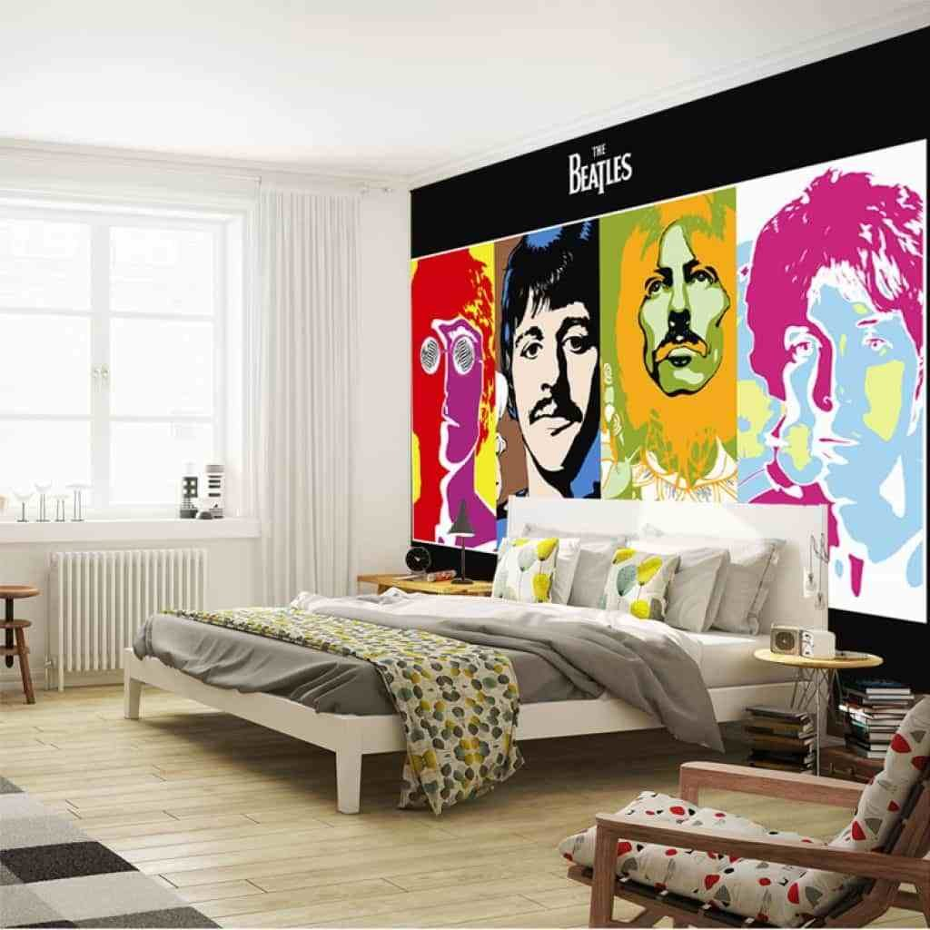 Best Music Bedroom With The Beatles Poster Creating A Music With Pictures