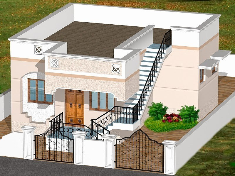 Best D House Plans Indian Style Garden African Home 1 200 Sf With Pictures