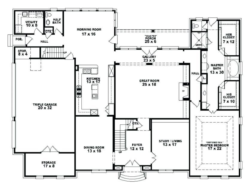Best Bedroom House Plans 4 Bedroom Open Affordable 4 Ranch Simple One Story Brick Floor Style With With Pictures