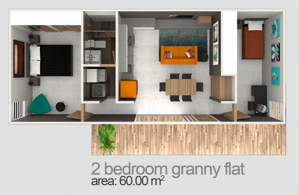 Best Two Bedroom Granny Flat Designs Plans Granny Flats With Pictures