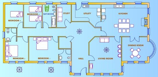 Best Woodwork 4 Bed House Plans Uk Pdf Plans With Pictures