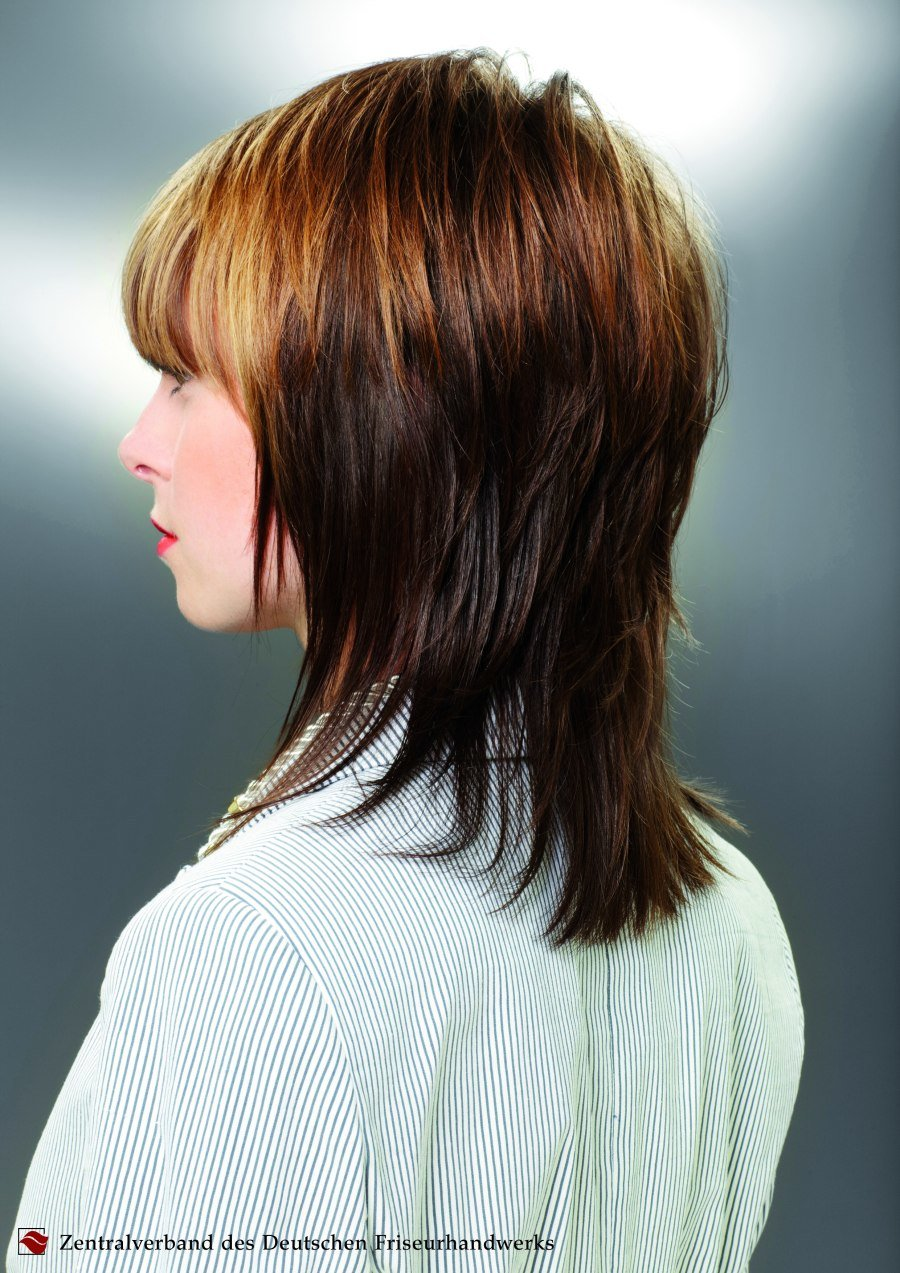 Free Medium Long Layered Haircut That Follows The Shape Of The Wallpaper