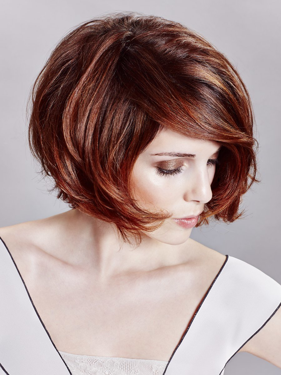Free S*Xy Bob Hairstyle With Sophisticated Lines And Deep Hair Wallpaper