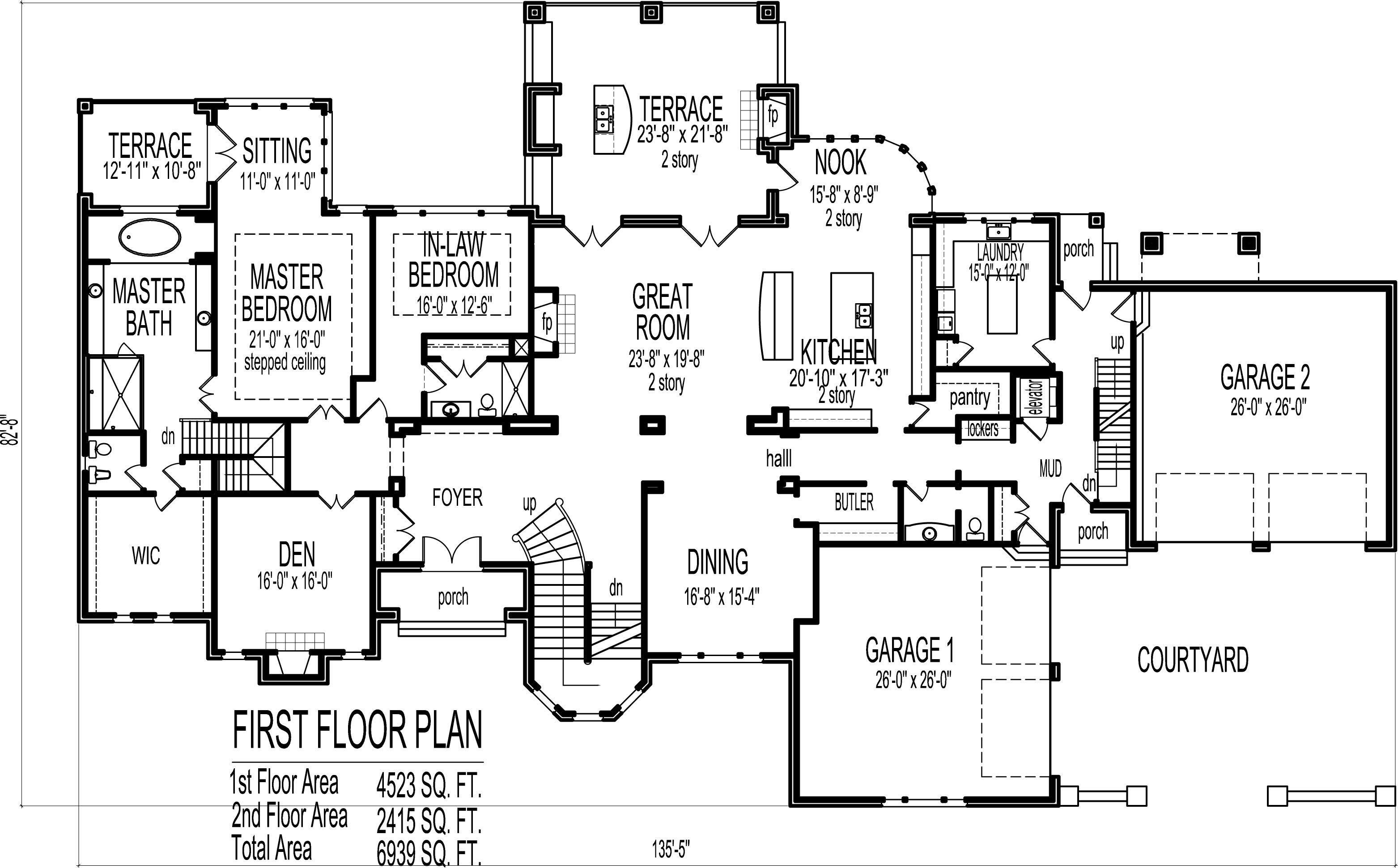 Best Dream House Floor Plans Blueprints 2 Story 5 Bedroom Large With Pictures