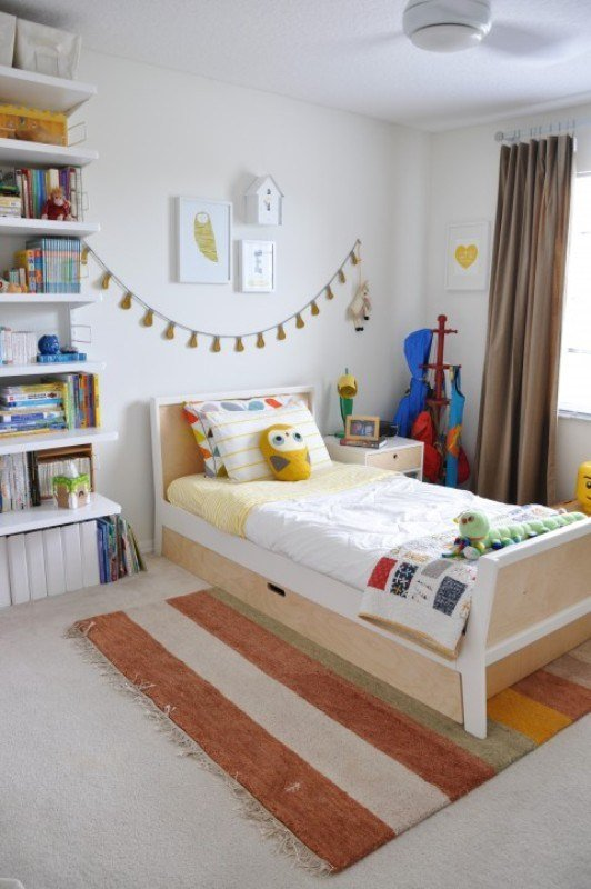 Best Eclectic And Cute All White Big Boy Bedroom Kidsomania With Pictures