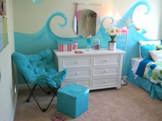 Best Model Home Tour Girl S Beach Theme Bedroom With Pictures