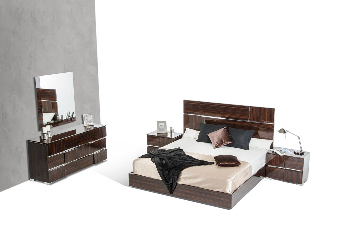 Best Picasso Italian Modern Ebony Lacquer Bedroom Set With Pictures