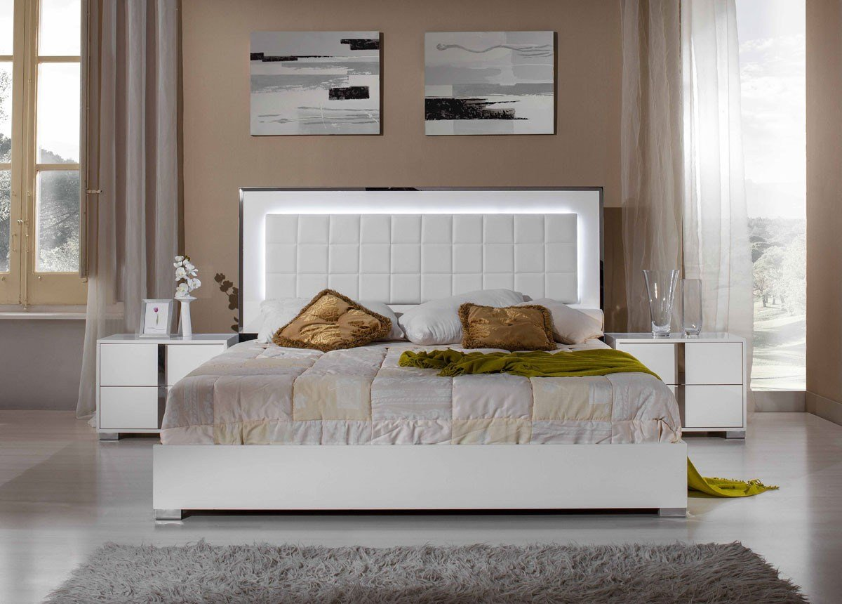 Best Modrest San Marino Modern White Bedroom Set With Pictures