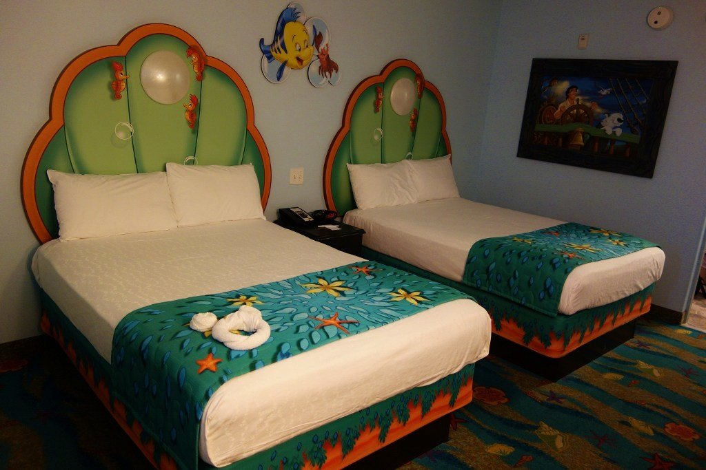 Best Little Mermaid And Caribbean Beach Room Sizes Yourfirstvisit Net With Pictures