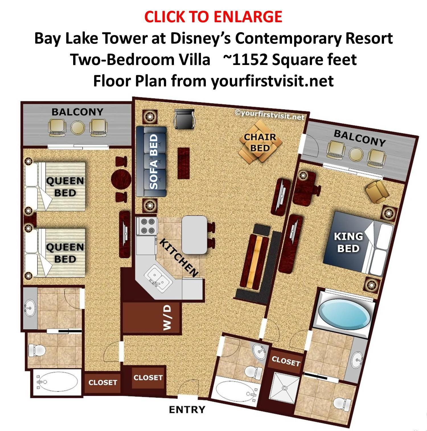 Best Review Bay Lake Tower At Disney's Contemporary Resort Continued Yourfirstvisit Net With Pictures