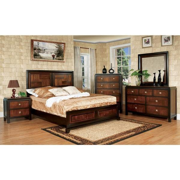 Best Furniture Of America Duo Tone 4 Piece Acacia And Walnut With Pictures