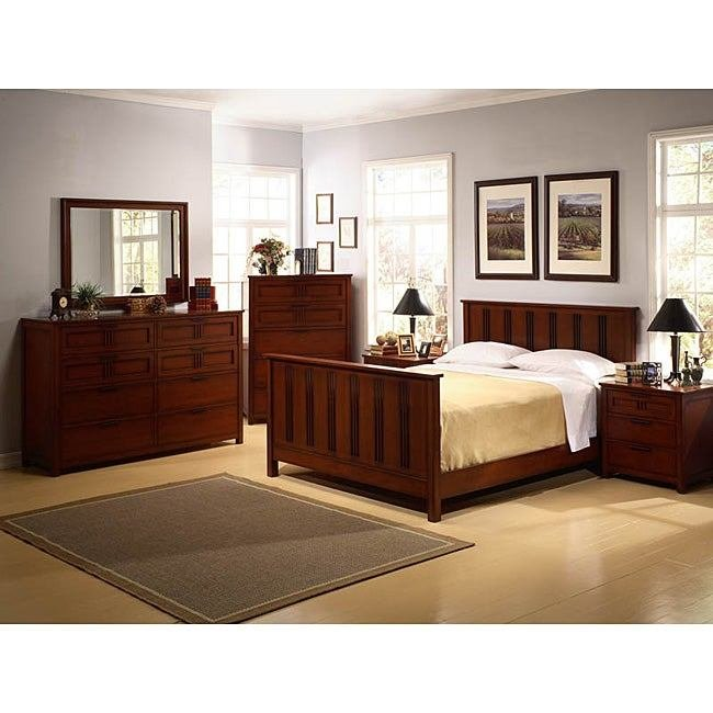 Best Cherry Mission Style 6 Piece King Bedroom Set 11516953 With Pictures