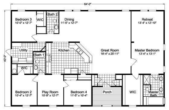 Best Bedroom Mobile Home Floor Plans Bestofhouse Net 36936 With Pictures