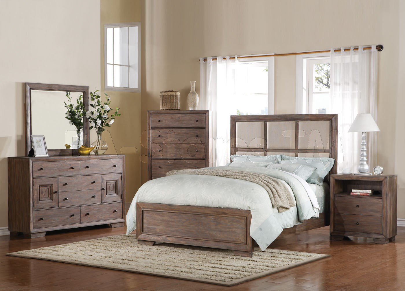 Best Distressed Wood Bedroom Furnitureequinox Pc Bedroom Set In Distressed Ash Acme Furniture Mbwkd With Pictures