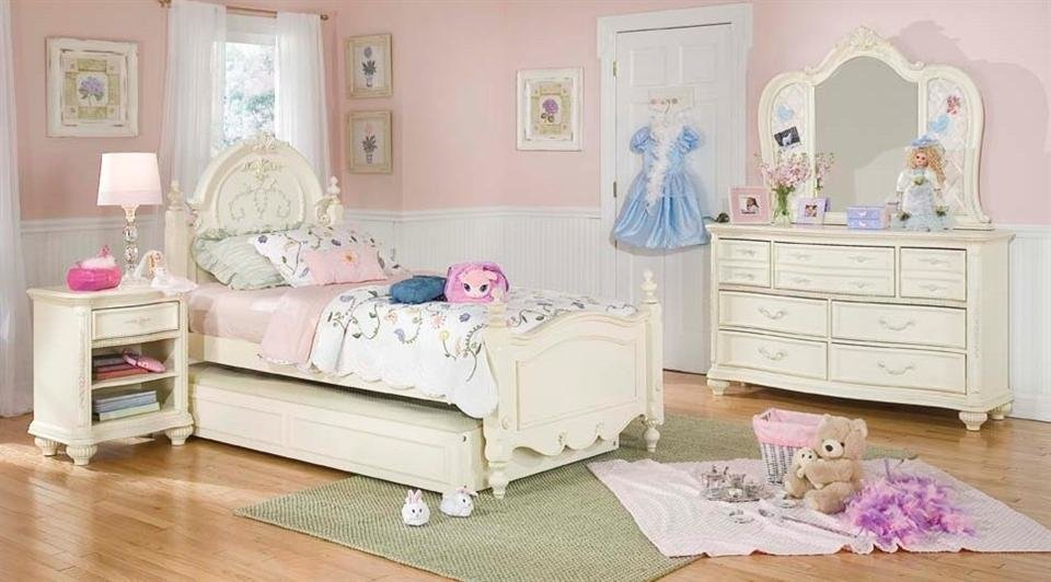 Best Lea Jessica Mcclintock Romance Pc Vintage Look Girls Bedroom Set Bedroom Furniture Reviews With Pictures