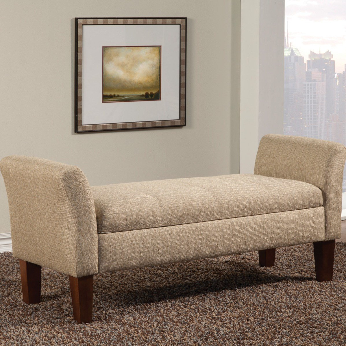 Best Wildon Home ® Upholstered Storage Bedroom Bench Ebay With Pictures