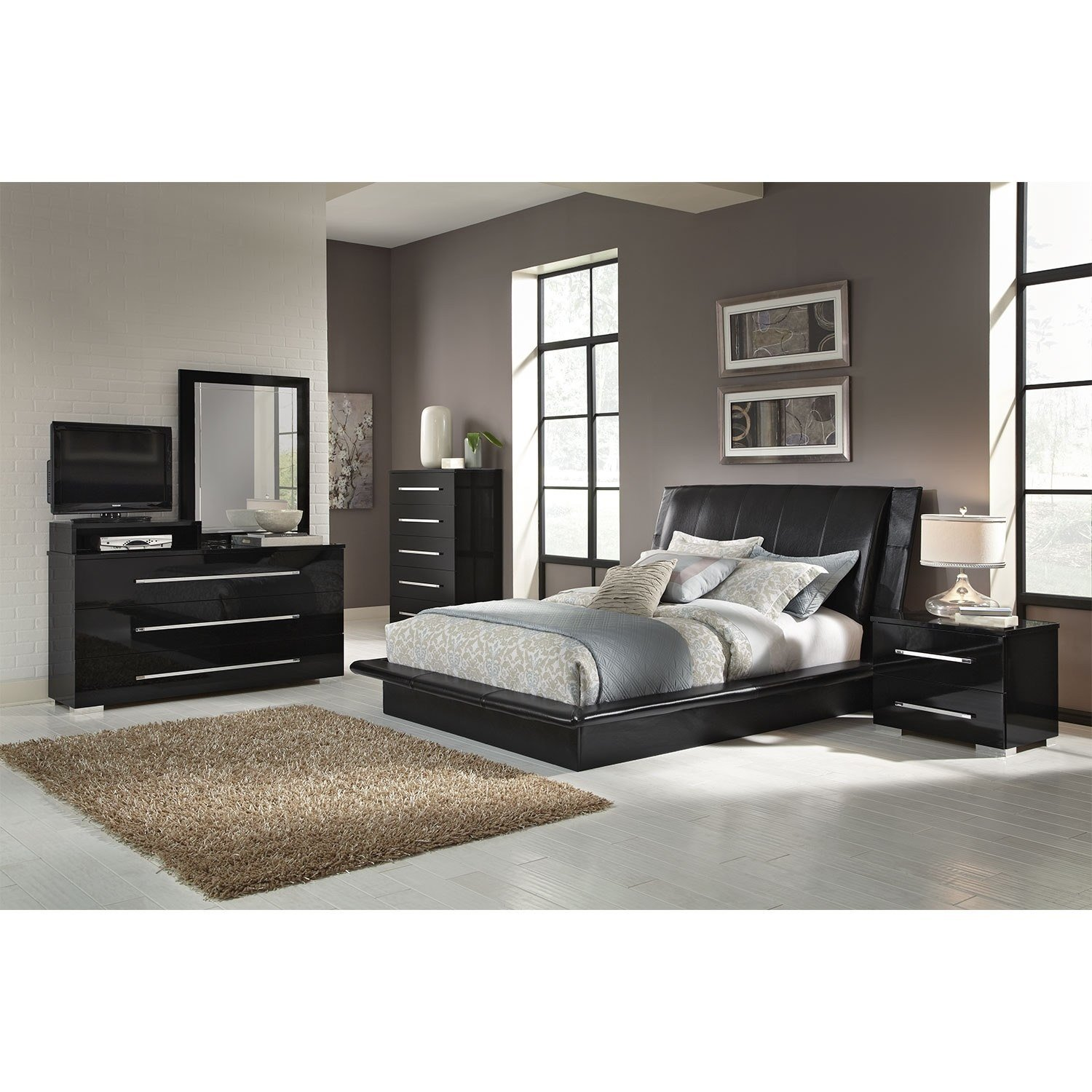 Best Dimora Black 7 Pc Queen Bedroom Value City Furniture With Pictures