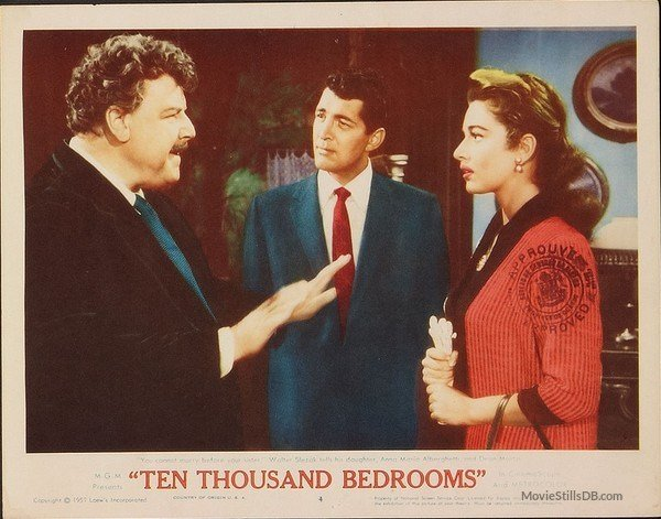 Best Ten Thousand Bedrooms Lobby Card With Dean Martin Walter Slezak With Pictures