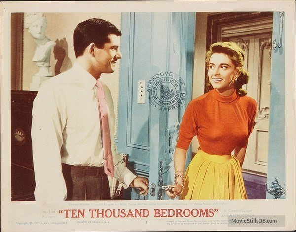 Best Ten Thousand Bedrooms Lobby Card With Anna Maria Alberghetti Dewey Martin With Pictures