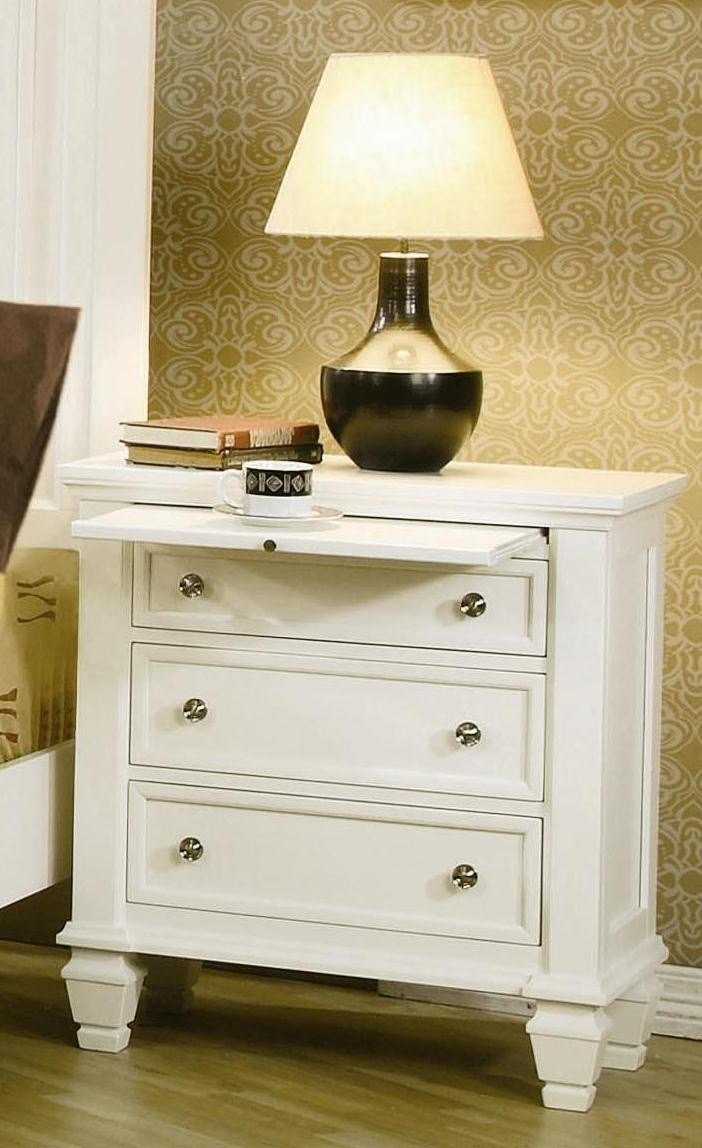 Best Sandy Beach White Sleigh Storage Bedroom Set 201309 Bedroom Furniture With Pictures