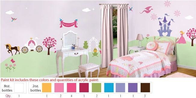 Best Princess Bedroom Wall Mural Stencils For Girls Room With Pictures