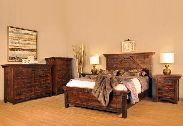 Best Rustic Carlisle Bedroom Suite Industrial Craftsman With Pictures