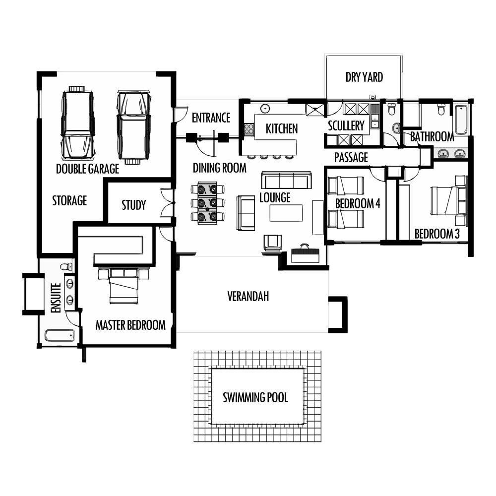 Best 3 Bedroom 285M2 Floor Plan Only – Houseplanshq With Pictures