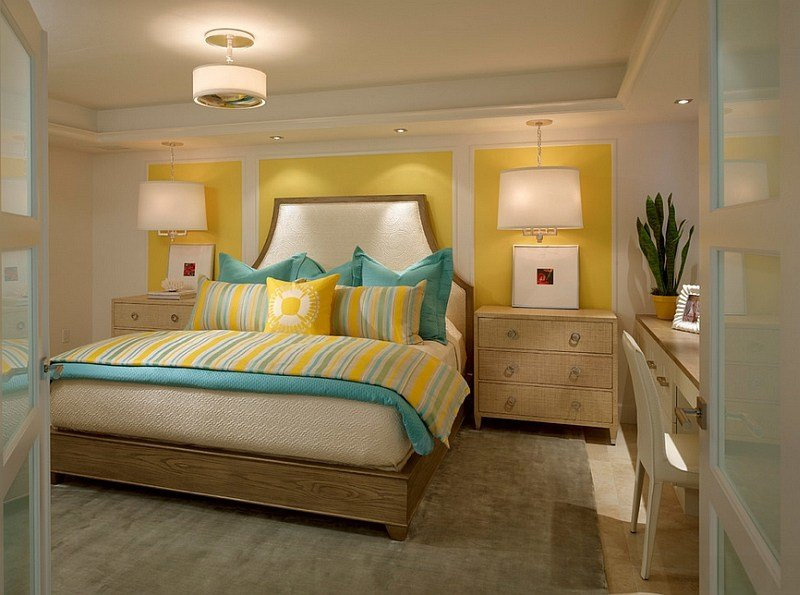 Best Yellow And Blue Interiors Living Rooms Bedrooms Kitchens With Pictures