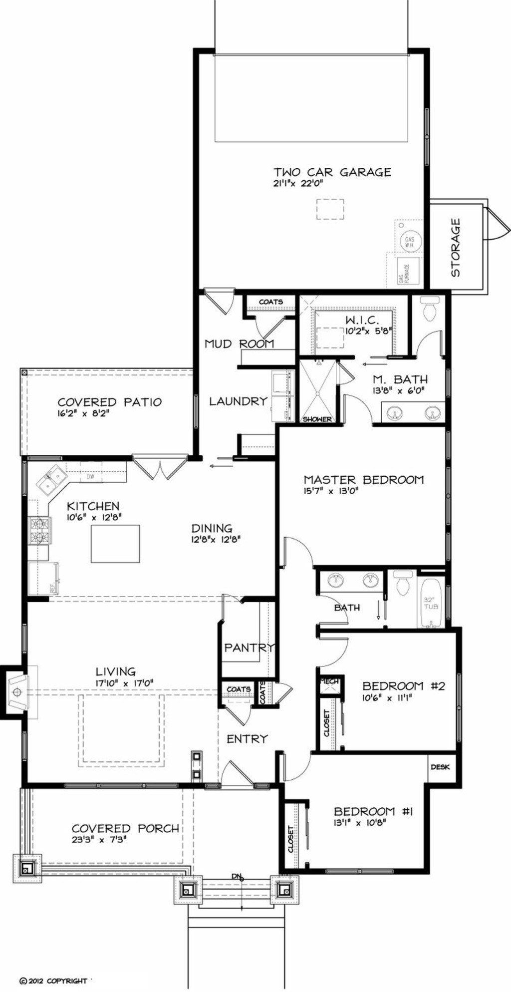 Best Craftsman Style House Plan 3 Beds 2 Baths 1749 Sq Ft Plan 434 17 With Pictures