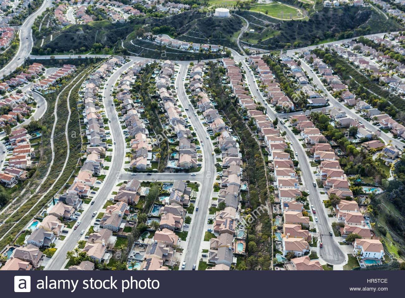 Best Aerial View Of Suburban Stevenson Ranch Bedroom Community In Los Stock Photo Royalty Free Image With Pictures