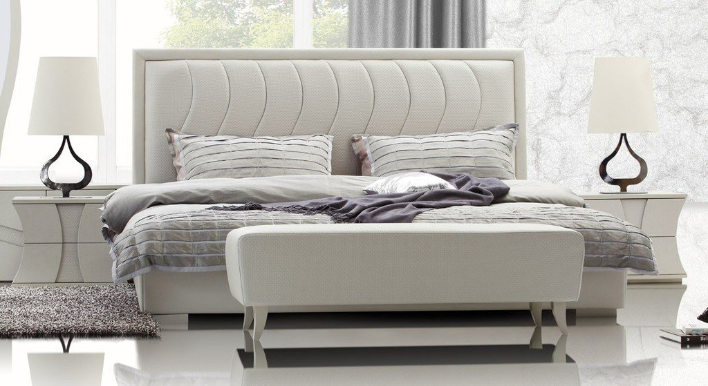 Best Modern Leatherette Bedroom Furniture In White Features With Pictures