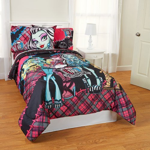Best Monster High Fright 5Pc Full Comforter And Sheet Set With Pictures