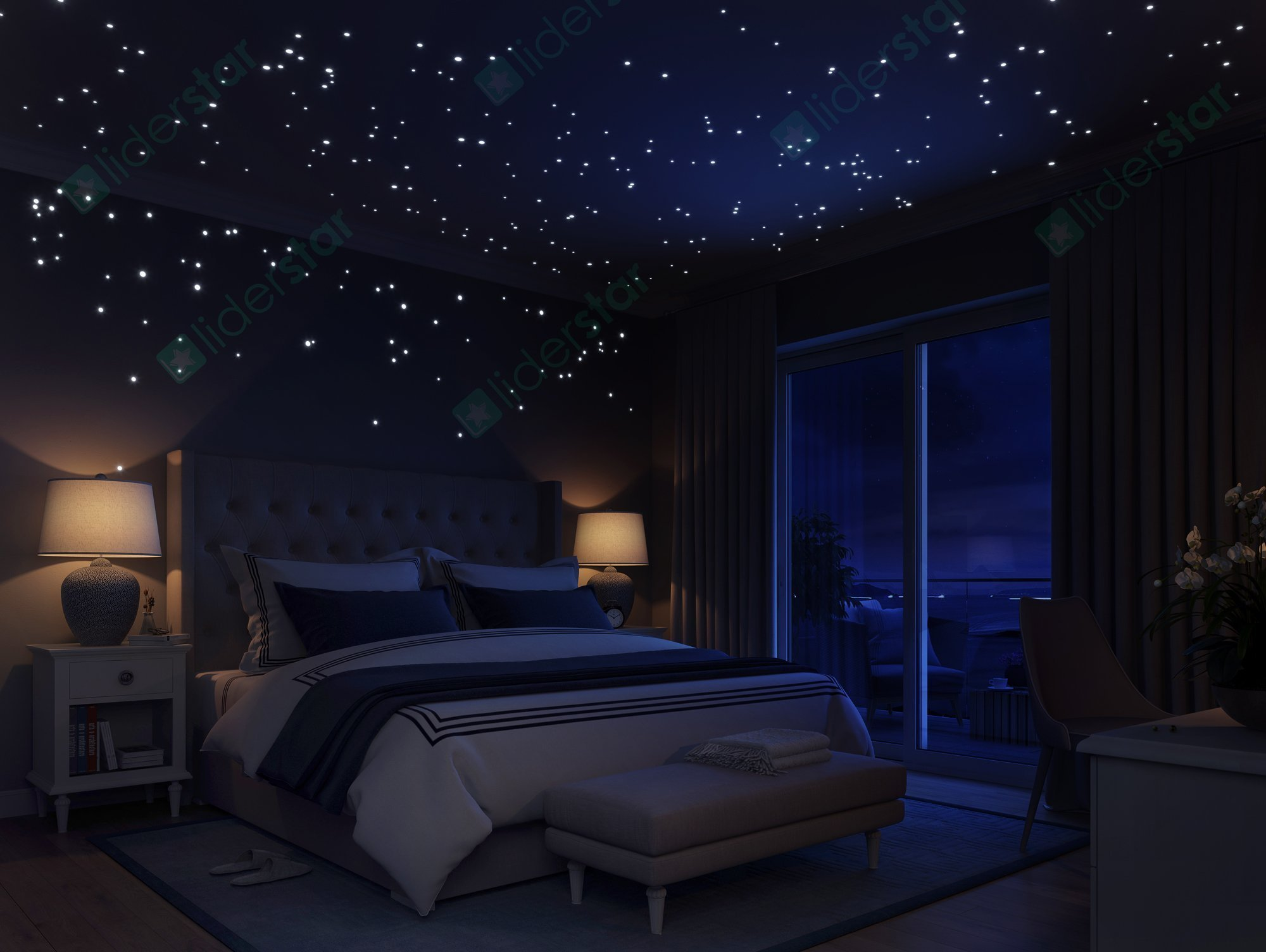 Best Glow In The Dark Stars Wall Stickers By Liderstar 252 Dots 1 Moon For Sta Ebay With Pictures