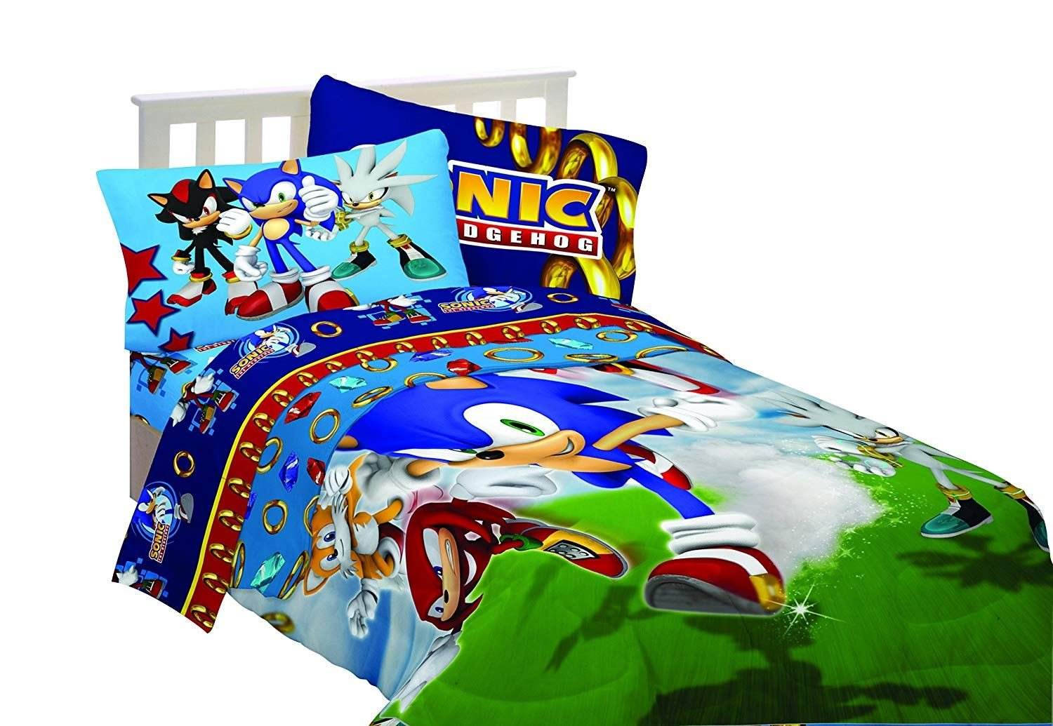 Best Sega Sonic The Hedgehog Super Sonic Twin Bedding Sheet Set With Pictures
