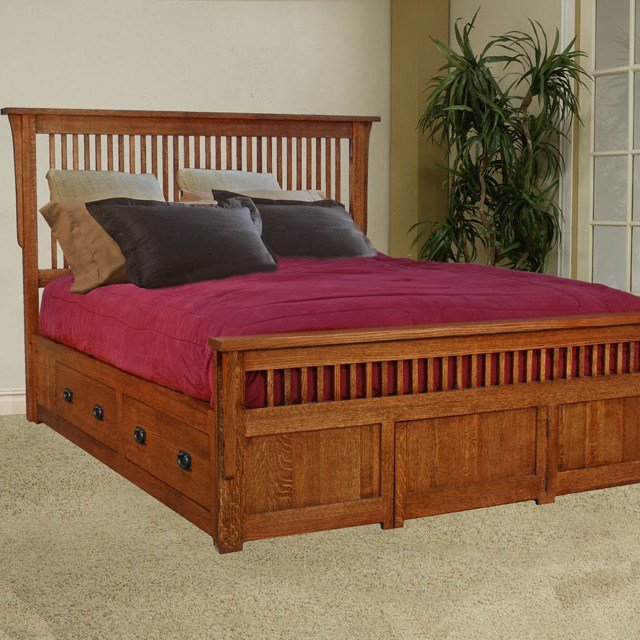 Best Mission Style Bedroom Set Fireside Furniture With Pictures