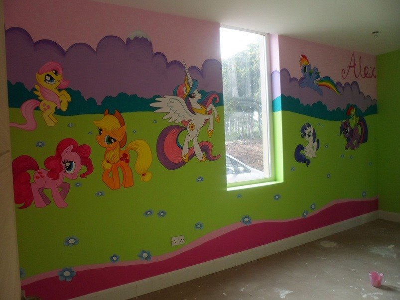 Best My Little Pony Wall Mural Ideas For Kid Bedroom Decoration With Pictures