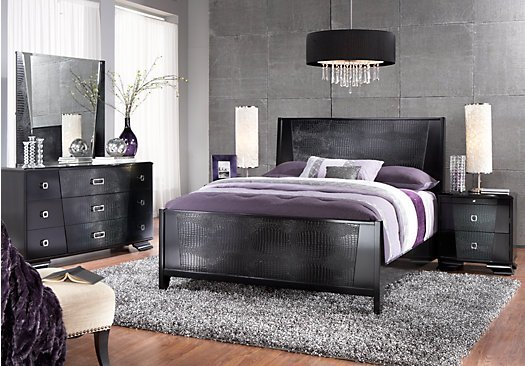 Best The Sofia Vergara Biscayne King Black 5Pc Panel Bedroom With Pictures