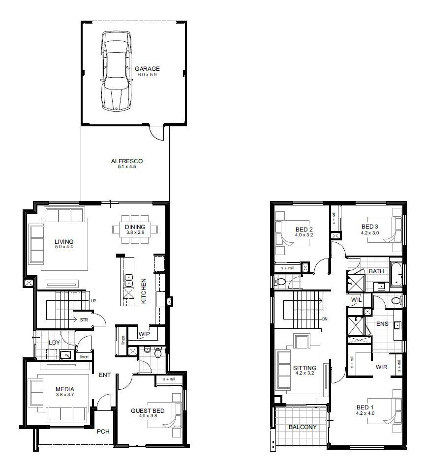 Best 2 Storey House Plans 5 Bedroom Designs Perth Double Apg Homes Hcgdietdrops Co With Pictures