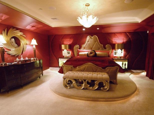 Best Rich Red And Gold Master Bedroom Hgtv With Pictures