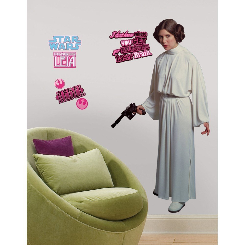 Best New Giant Princess Leia Wall Decals Star Wars Movie Room With Pictures