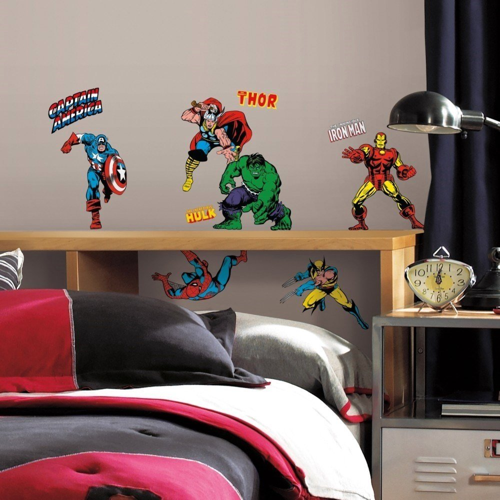Best 32 New Classic Marvel Heroes Wall Decals Avengers Stickers With Pictures