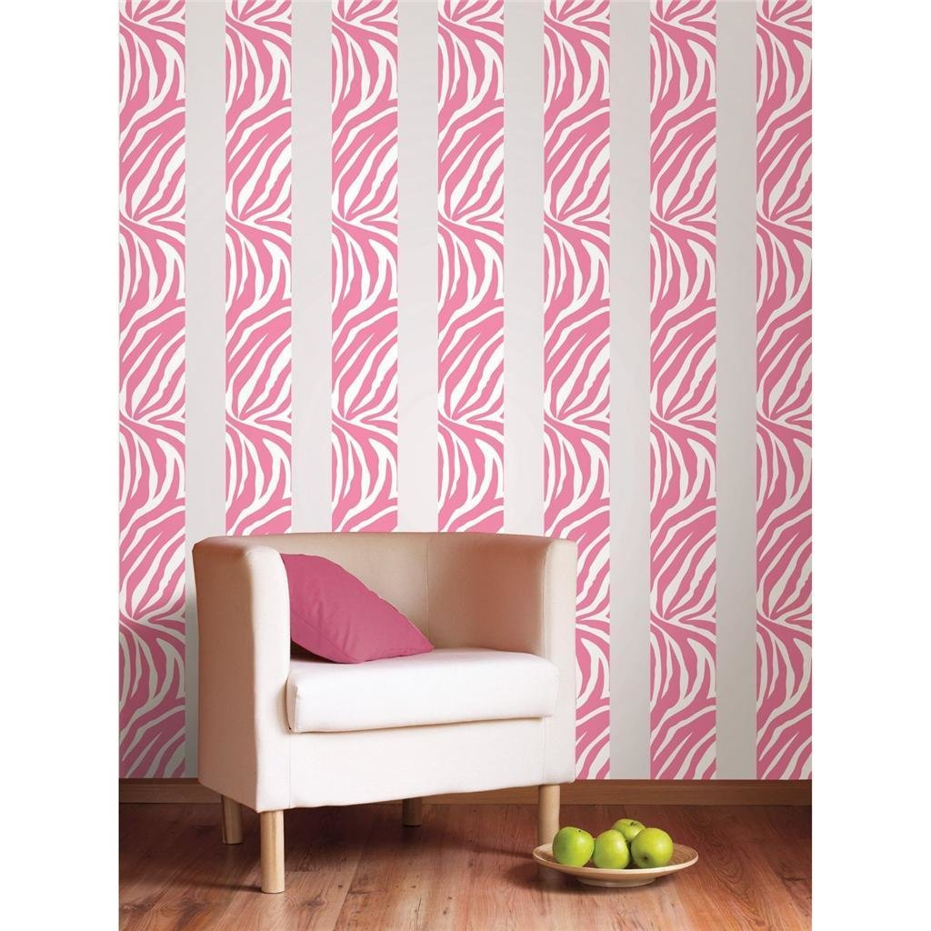 Best Pink Zebra Print 16 Removable Vinyl Sticker Wall Border With Pictures