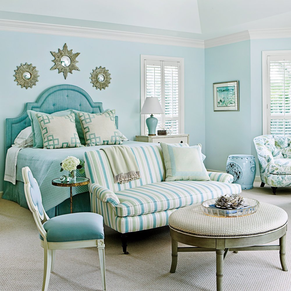 Best Sea Glass Blue Master Bedroom Ideas For Blue Bedrooms With Pictures