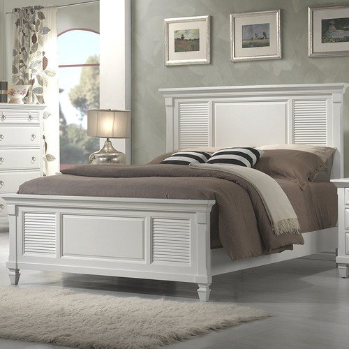 Best Alpine Furniture Winchester Shutter Panel Bed Reviews With Pictures