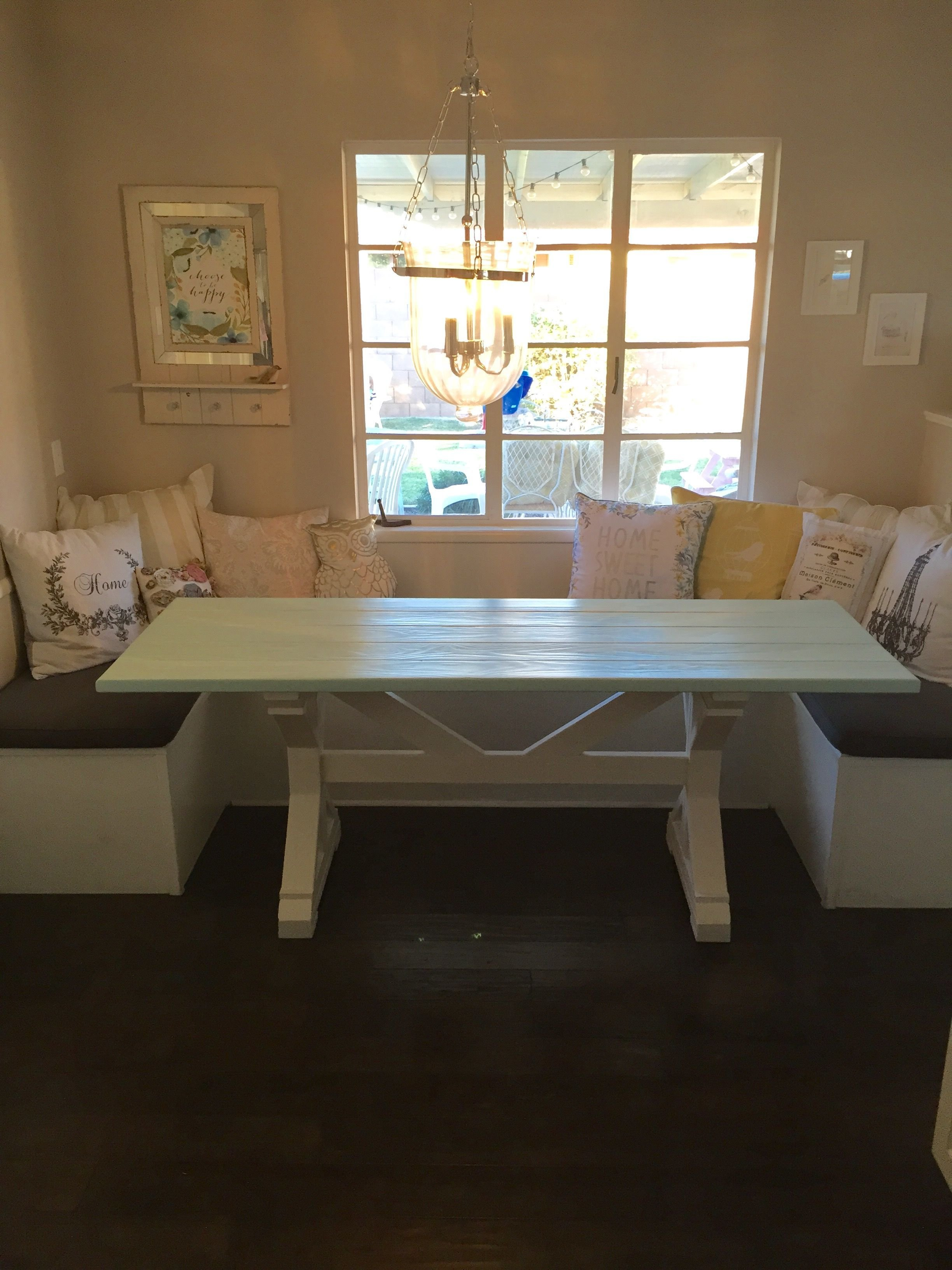 Best Hand Made 27X77 Farmhouse Table For Breakfast Nook By With Pictures