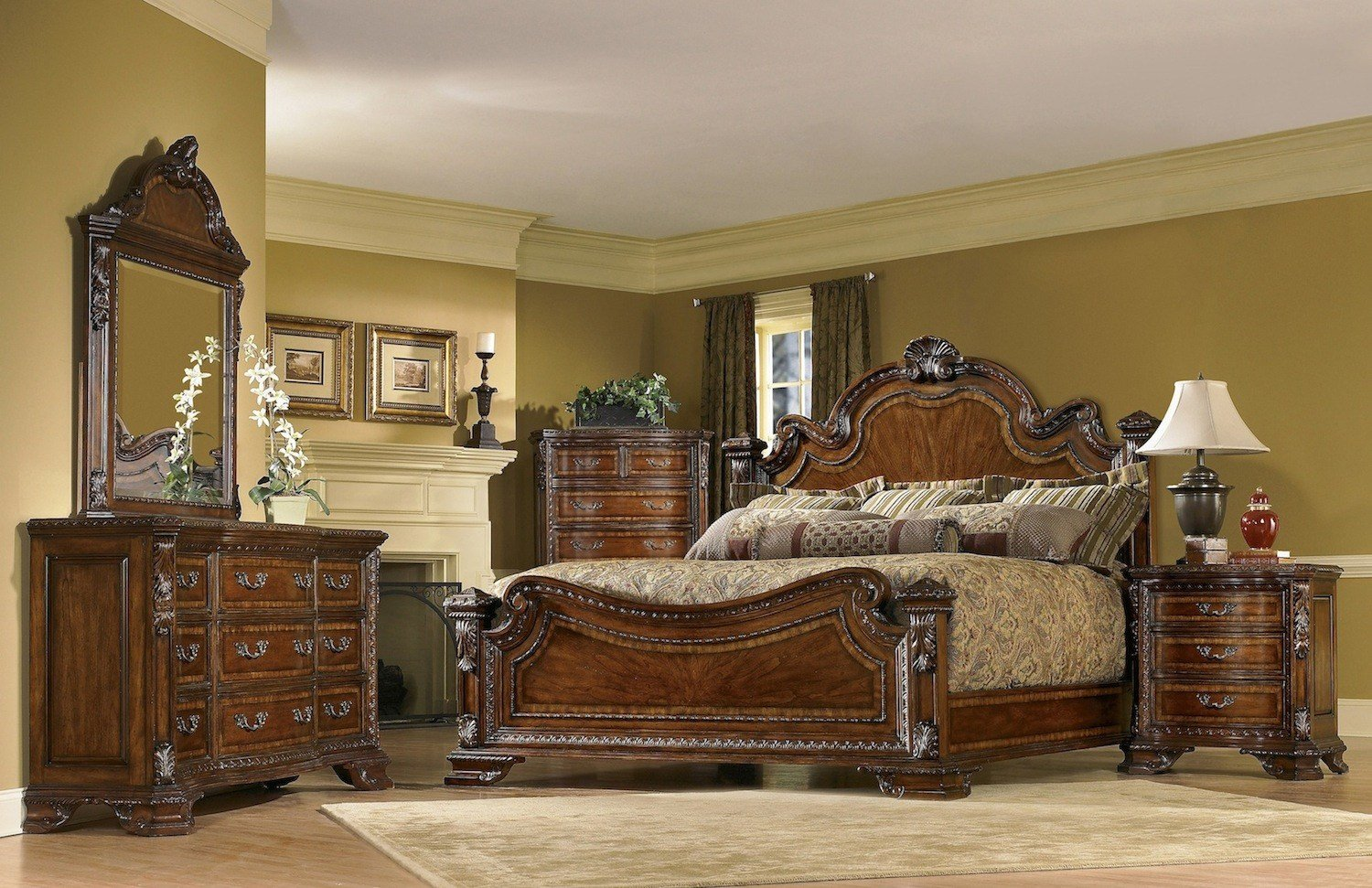 Best Old World 5 Piece King Traditional European Style Bedroom With Pictures