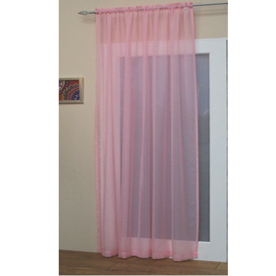 Best Voile Net Slot Top Rod Pocket Curtain Panel Bedroom With Pictures