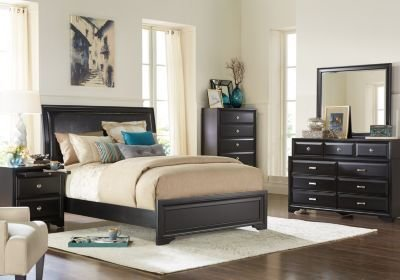 Best Belcourt Black 5 Pc King Upholstered Bedroom King With Pictures